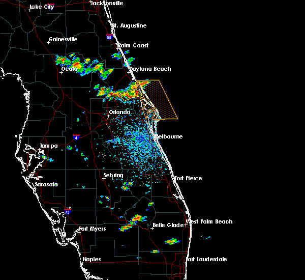Radar Image for Severe Thunderstorms near Oak Hill, FL at 6/4/2018 2:38 PM EDT
