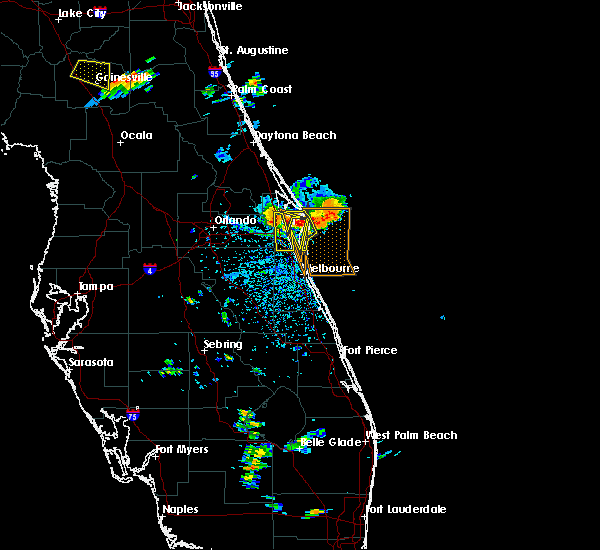 Radar Image for Severe Thunderstorms near Merritt Island, FL at 6/4/2018 3:50 PM EDT