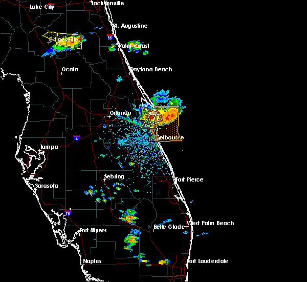 Radar Image for Severe Thunderstorms near Merritt Island, FL at 6/4/2018 4:12 PM EDT