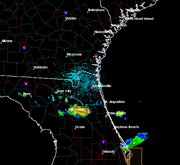 Radar Image for Severe Thunderstorms near Keystone Heights, FL at 6/4/2018 4:21 PM EDT