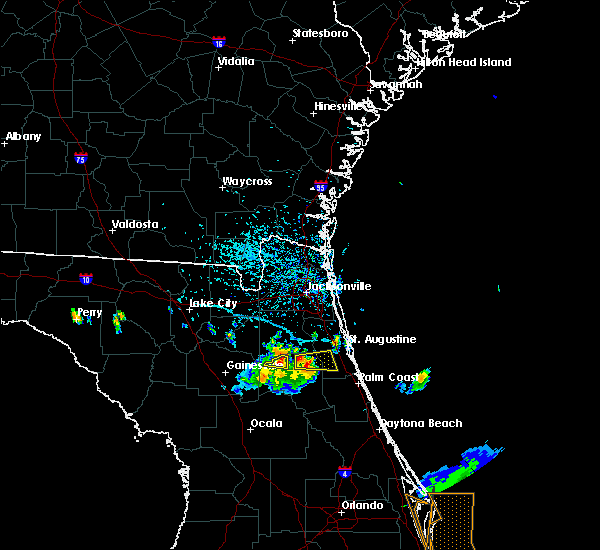 Radar Image for Severe Thunderstorms near Hastings, FL at 6/4/2018 4:41 PM EDT