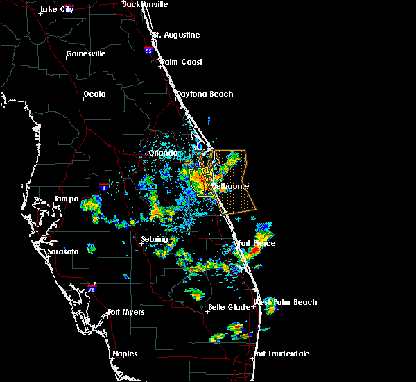 Radar Image for Severe Thunderstorms near Merritt Island, FL at 6/5/2018 4:09 PM EDT