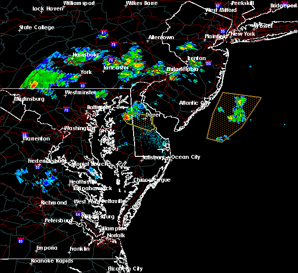 Radar Image for Severe Thunderstorms near Dover, DE at 6/5/2018 6:53 PM EDT