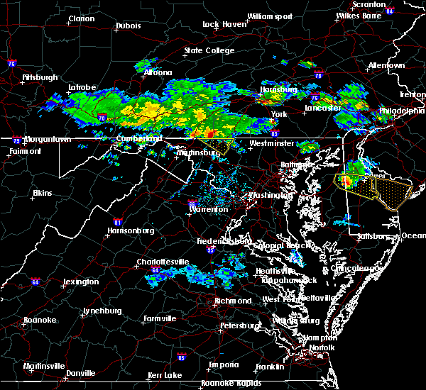 Radar Image for Severe Thunderstorms near Walkersville, MD at 6/5/2018 6:58 PM EDT