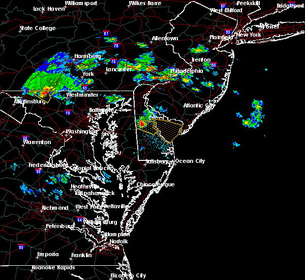 Radar Image for Severe Thunderstorms near Dover, DE at 6/5/2018 7:09 PM EDT