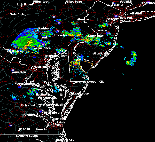 Radar Image for Severe Thunderstorms near Dover, DE at 6/5/2018 7:19 PM EDT