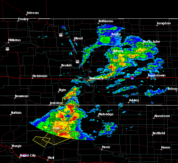 Radar Image for Severe Thunderstorms near McIntosh, SD at 6/5/2018 9:03 PM MDT