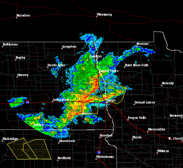 Radar Image for Severe Thunderstorms near Glyndon, MN at 6/6/2018 12:02 AM CDT