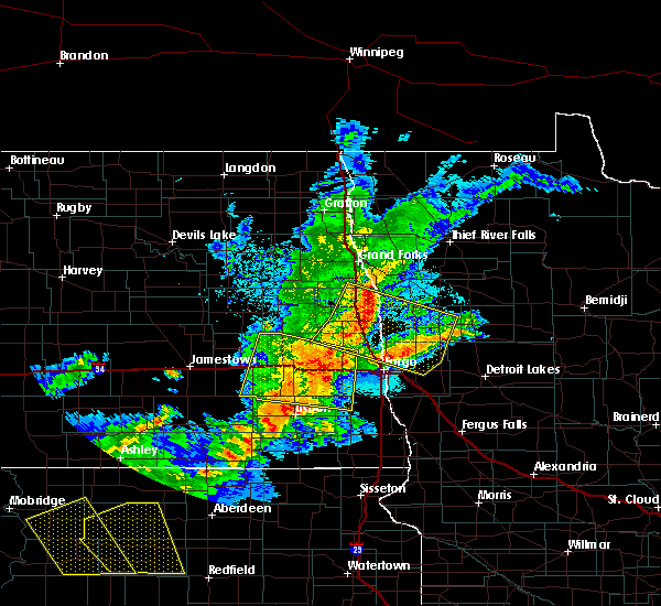 Radar Image for Severe Thunderstorms near Glyndon, MN at 6/6/2018 12:14 AM CDT