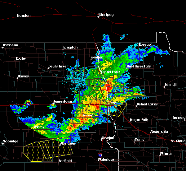 Radar Image for Severe Thunderstorms near Davenport, ND at 6/6/2018 12:26 AM CDT