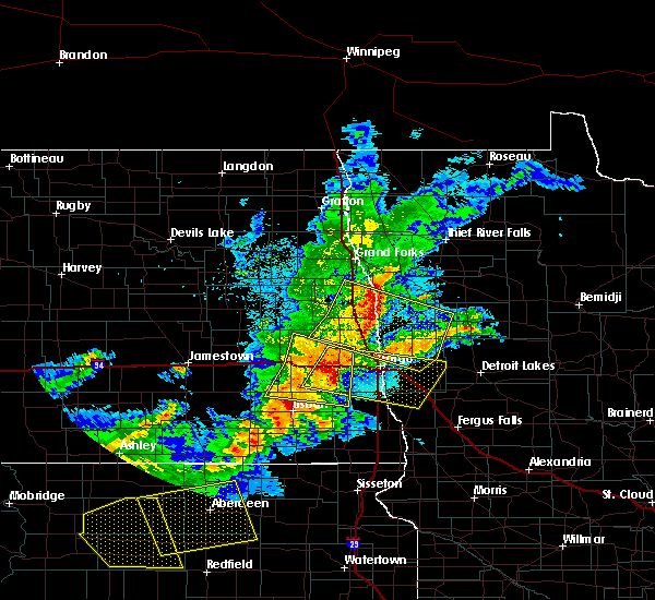Radar Image for Severe Thunderstorms near Glyndon, MN at 6/6/2018 12:26 AM CDT