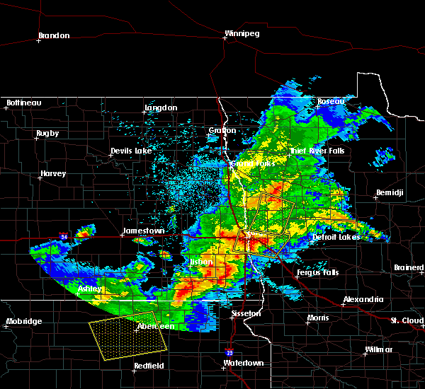 Radar Image for Severe Thunderstorms near Glyndon, MN at 6/6/2018 12:54 AM CDT