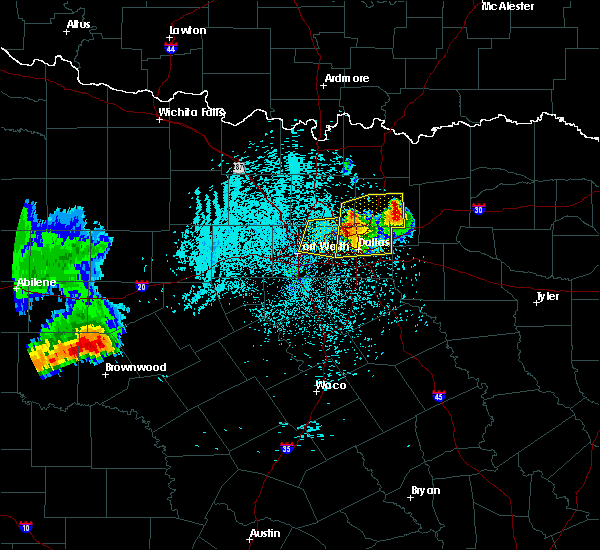 Radar Image for Severe Thunderstorms near Keller, TX at 6/6/2018 1:45 AM CDT