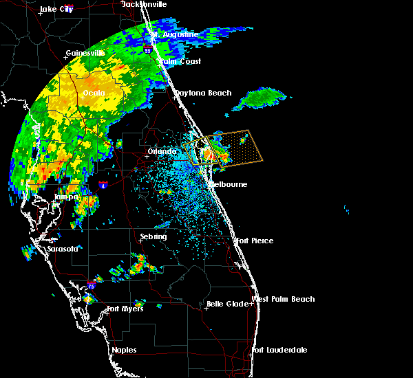 Radar Image for Severe Thunderstorms near Merritt Island, FL at 6/6/2018 11:50 AM EDT