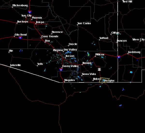 Radar Image for Severe Thunderstorms near Douglas, AZ at 6/6/2018 12:12 PM MST