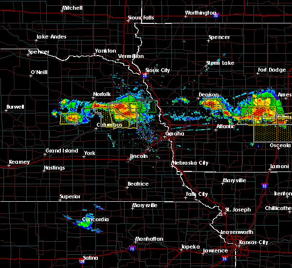 Radar Image for Severe Thunderstorms near St. Edward, NE at 6/6/2018 6:55 PM CDT