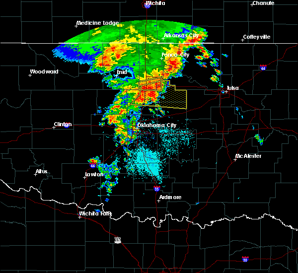 Radar Image for Severe Thunderstorms near Morrison, OK at 6/7/2018 7:59 AM CDT