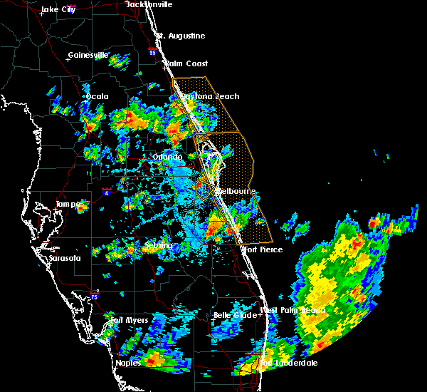 Radar Image for Severe Thunderstorms near Merritt Island, FL at 6/7/2018 5:40 PM EDT