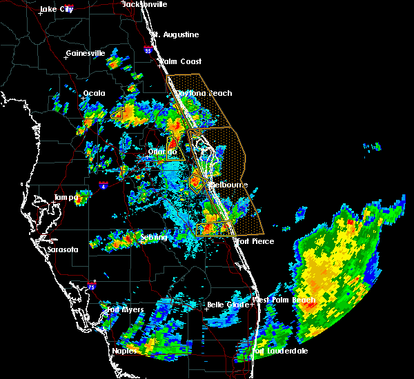 Radar Image for Severe Thunderstorms near Merritt Island, FL at 6/7/2018 5:56 PM EDT