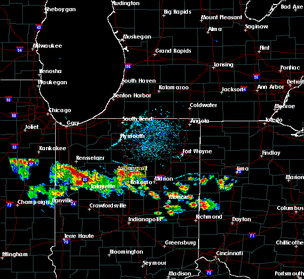 Radar Image for Severe Thunderstorms near Onward, IN at 6/7/2018 6:48 PM EDT