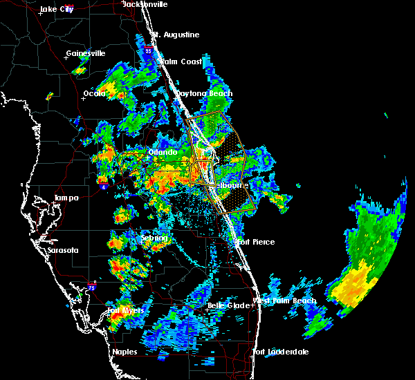 Radar Image for Severe Thunderstorms near Merritt Island, FL at 6/7/2018 7:41 PM EDT