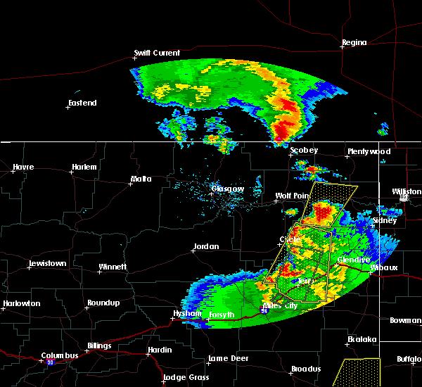 Radar Image for Severe Thunderstorms near Brockton, MT at 6/7/2018 8:22 PM MDT