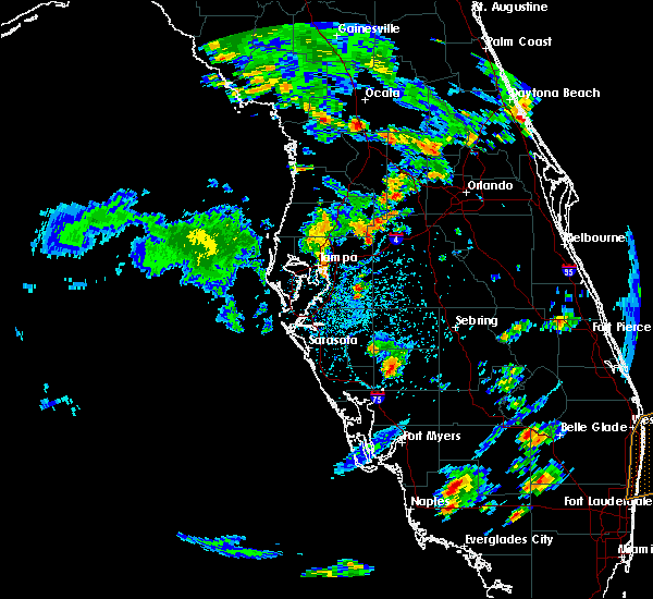 Radar Image for Severe Thunderstorms near Fish Hawk, FL at 6/8/2018 3:29 PM EDT