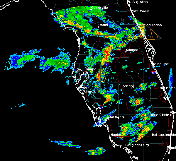 Radar Image for Severe Thunderstorms near Fish Hawk, FL at 6/8/2018 3:50 PM EDT