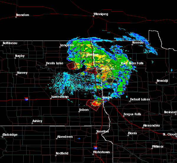 Radar Image for Severe Thunderstorms near Grand Forks AFB, ND at 6/8/2018 5:16 PM CDT