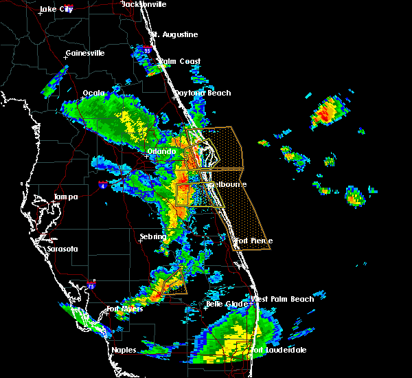 Radar Image for Severe Thunderstorms near Merritt Island, FL at 6/8/2018 6:21 PM EDT