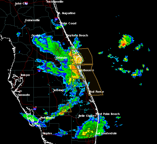 Radar Image for Severe Thunderstorms near Merritt Island, FL at 6/8/2018 6:39 PM EDT