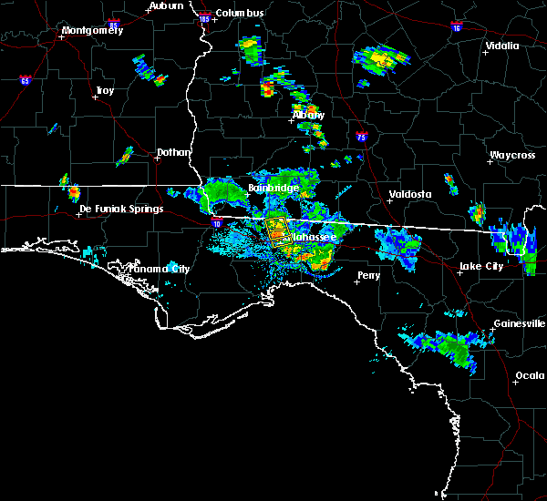 Radar Image for Severe Thunderstorms near Tallahassee, FL at 6/8/2018 6:58 PM EDT