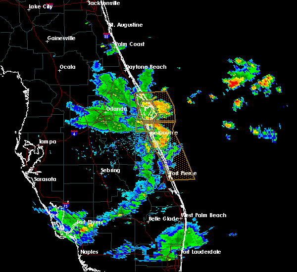 Radar Image for Severe Thunderstorms near Merritt Island, FL at 6/8/2018 7:12 PM EDT