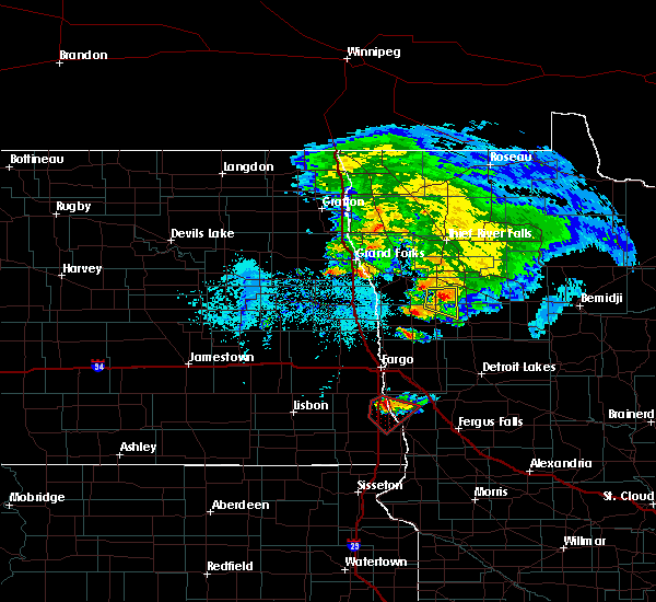 Radar Image for Severe Thunderstorms near Kent, MN at 6/8/2018 6:42 PM CDT