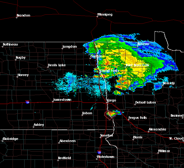 Radar Image for Severe Thunderstorms near Kent, MN at 6/8/2018 6:51 PM CDT