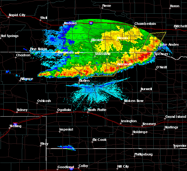 Radar Image for Severe Thunderstorms near Ainsworth, NE at 6/8/2018 11:04 PM CDT