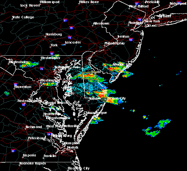Radar Image for Severe Thunderstorms near Dover, DE at 6/9/2018 1:24 PM EDT