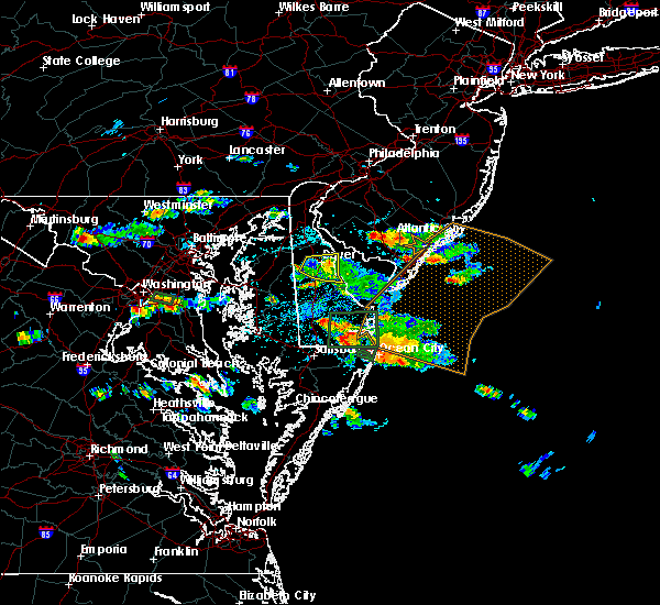 Radar Image for Severe Thunderstorms near Dover, DE at 6/9/2018 1:57 PM EDT