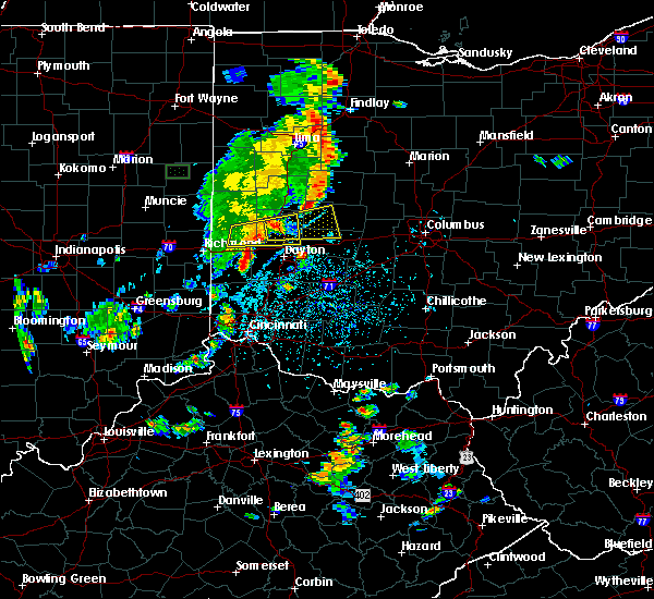 Radar Image for Severe Thunderstorms near Dayton, OH at 6/9/2018 4:58 PM EDT