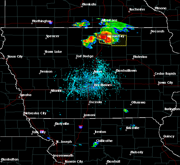 Radar Image for Severe Thunderstorms near Portland, IA at 6/9/2018 4:00 PM CDT
