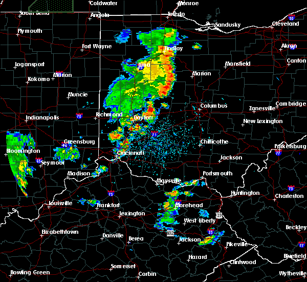 Radar Image for Severe Thunderstorms near Springfield, OH at 6/9/2018 5:34 PM EDT