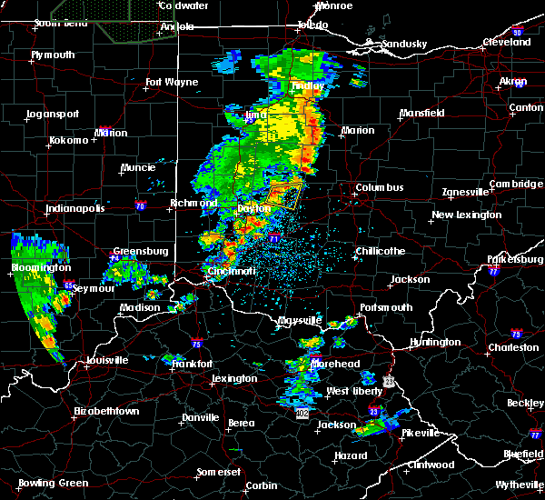 Radar Image for Severe Thunderstorms near Springfield, OH at 6/9/2018 5:46 PM EDT