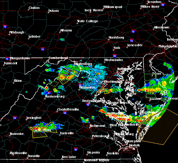 Radar Image for Severe Thunderstorms near Fort Washington, MD at 6/9/2018 6:37 PM EDT