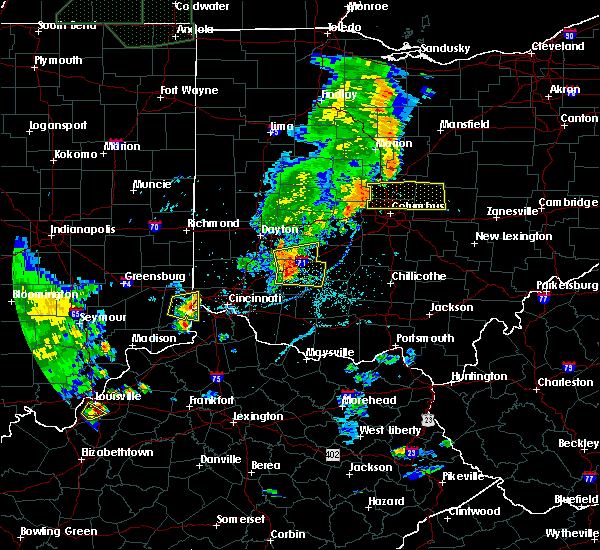 Radar Image for Severe Thunderstorms near Clarksville, OH at 6/9/2018 6:37 PM EDT