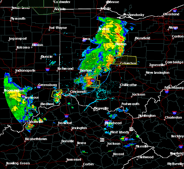 Radar Image for Severe Thunderstorms near Clarksville, OH at 6/9/2018 6:40 PM EDT