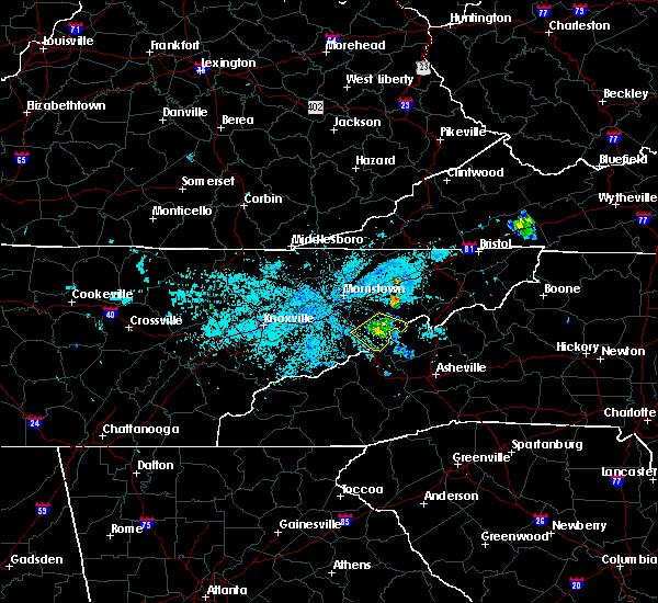 Radar Image for Severe Thunderstorms near Parrottsville, TN at 6/9/2018 11:46 PM EDT