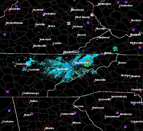 Radar Image for Severe Thunderstorms near Parrottsville, TN at 6/10/2018 12:12 AM EDT