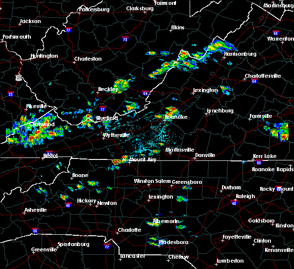 Radar Image for Severe Thunderstorms near Lowgap, NC at 6/10/2018 1:37 PM EDT