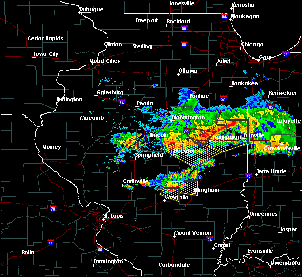 Radar Image for Severe Thunderstorms near Greenview, IL at 6/10/2018 2:22 PM CDT