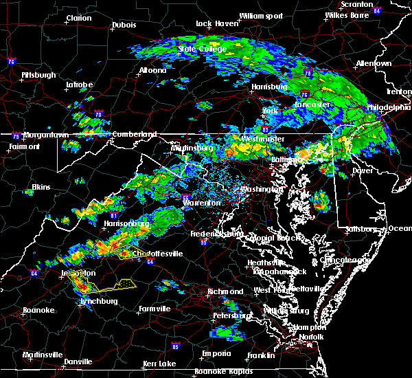 Radar Image for Severe Thunderstorms near University of Virginia, VA at 6/10/2018 3:36 PM EDT